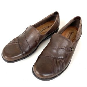 Cobb Hill Brown Leather Loafers Shoes Flats